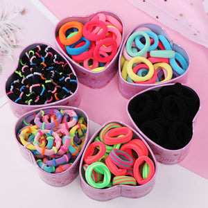 Woman's Colorful Nylon Soft Rubber Bands
