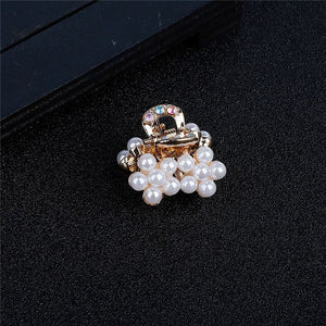 Woman's Luxury Small Pearl Crystal Rhinestone Hairpins