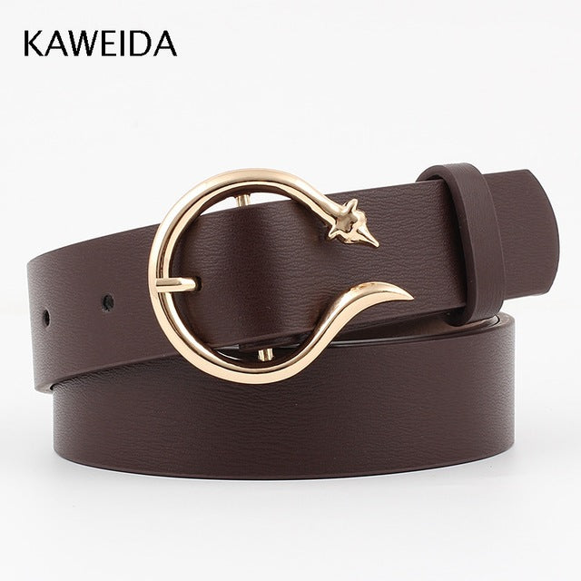 Women's Vintage Trendy Circle Pin Buckle Leather Belt