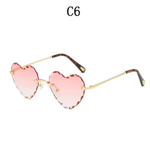 Peach Heart Sunglasses