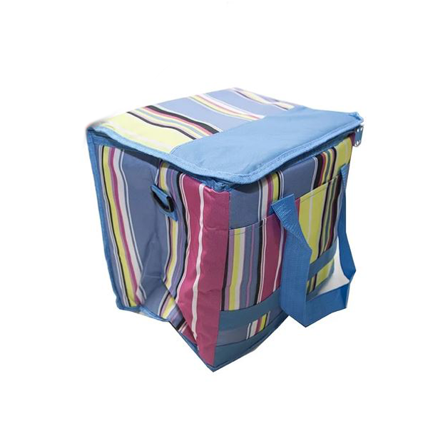 Multicoloured Striped Cooler Bag 30L