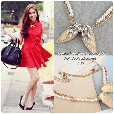 TLBB Golden Angelica Pearl Necklace