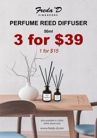 SET OF 3 PERFUME REED DIFFUSER - 50ML