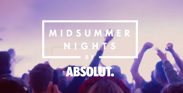 Midsummer Nights by Absolut @ BODY & SOUL 2016. We're buzzing.