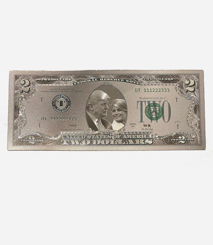 Donald Trump Commemorative Lucky Silver $2 Dollar Bank Note