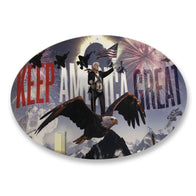 "Donald Trump ""Keep America Great"" Oval Sticker"