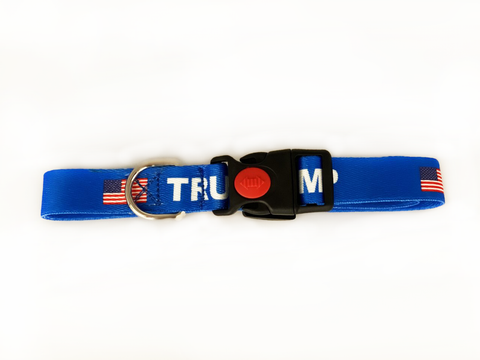 Blue Trump Dog Collars