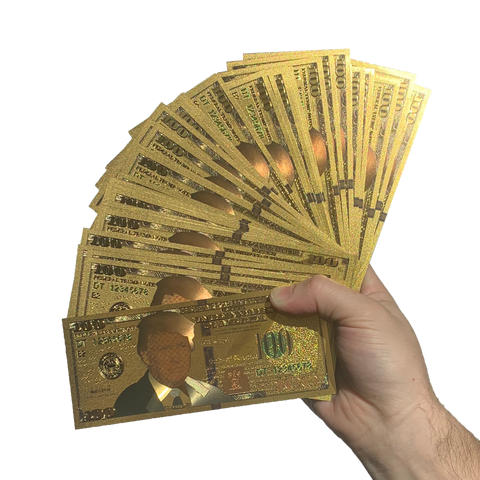 40 PACK!! Authentic 24kt Gold Plated Commemorative $100 Bank Note