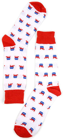 GOP Fuzzy Elephant Patterned Socks