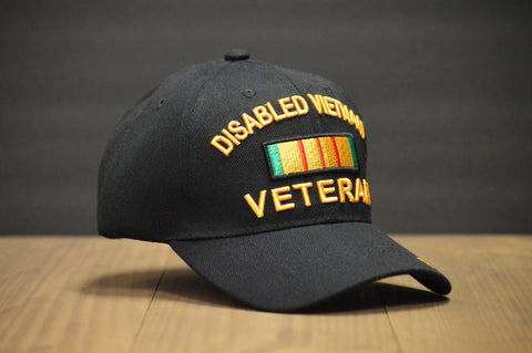 Disabled Vietnam Veteran Black Hat