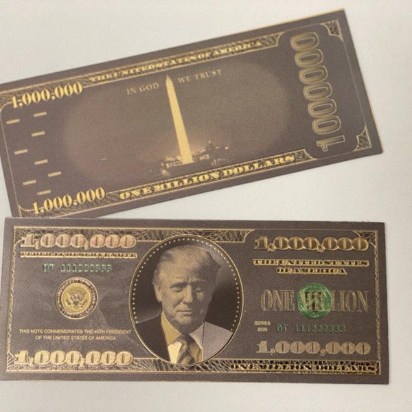 Donald Trump $1MIL BLACK Titanium Bank Note