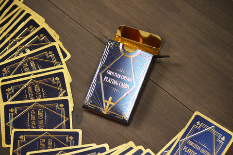 Christian Edition Navy Blue Playing Cards