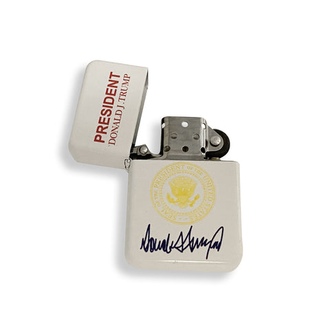 White Presidential Donald J. Trump Flip Top Lighter