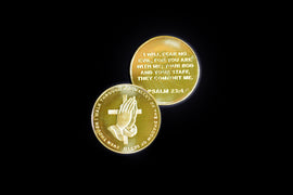 PSALM 23:4: 'I Will Fear No Evil' 24kt Gold Plated Coin