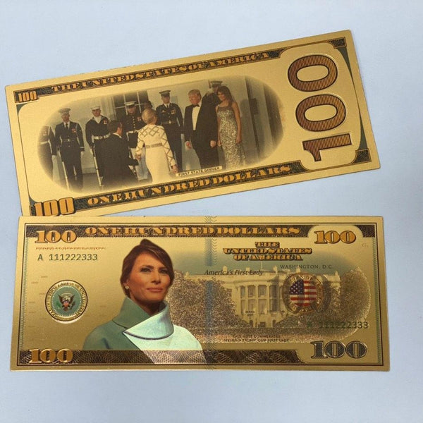 Melania Trump Novelty GOLD $100 Bill