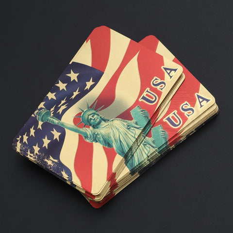 Statue Of Liberty 24k Gold Plated Playing Cards