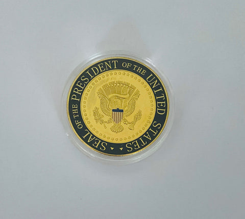 Enamel BLACK & GOLD Commemorative Trump 45th Presidential Coin