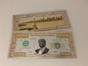 Donald Trump $1 Billion White Gold Bill