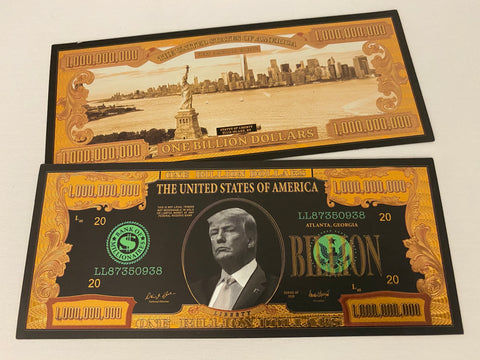 Donald Trump $1 Billion Black & Gold Bill