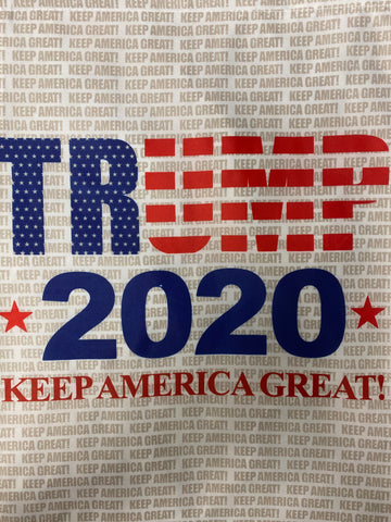 Trump 2020 Keep America Great WHITE Lawn Flag (FLAG POLE NOT INCLUDED)