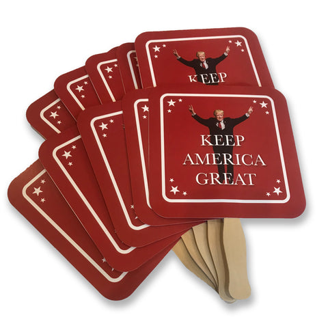 "Donald Trump ""Keep America Great"" Personal Fan *10 PACK*"