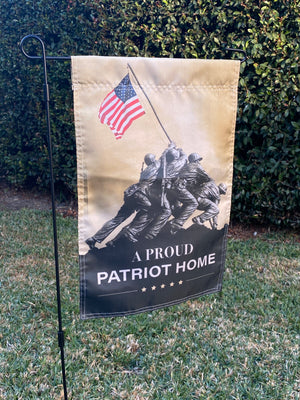 'A Proud Patriot Home' Lawn Flag (FLAG POLE NOT INCLUDED)