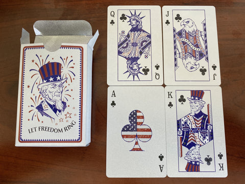 Silver Plated Let Freedom Ring American Playing Cards