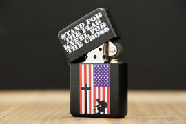 Stand for the Flag, Kneel for the Cross Flip Top Lighter