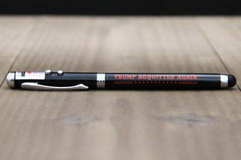 'Trump Acquitted Again' 4-in-1 Stylus Pen with Laser Pointer and Flashlight