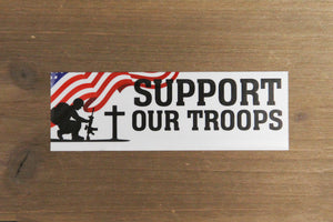 Support Our Troop Static Cling Window Decal