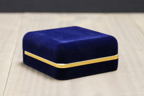Blue Velvet Coin Box