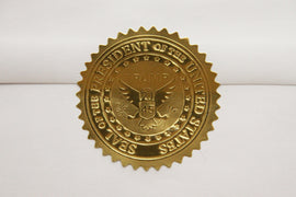 5-pack Embossed 24k Foil USA President Trump Seal