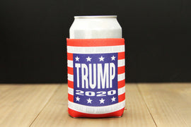 Trump 2020 Keep America Great Striped Reusable Koozie