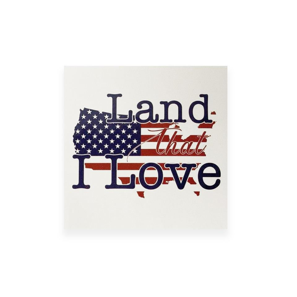 Land That I Love Stickers