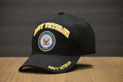 U.S Navy Veteran Black Hat