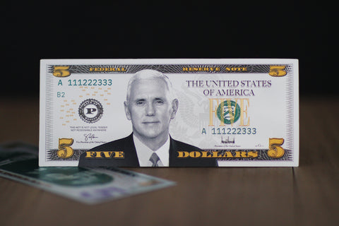 Mike Pence $5 Silver Banknote
