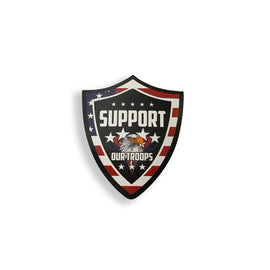 Support Our Troops Eagle Stickers