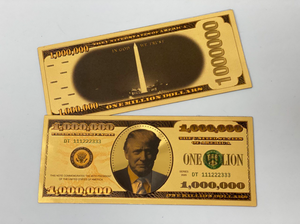 GOLD Donald Trump $1MIL Bank Note