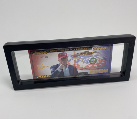 Premium 3D Floating Display Boxes (Bank Note Not Included)