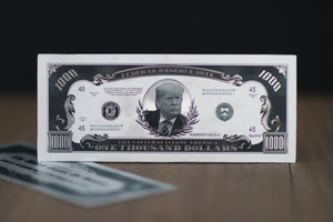 SILVER Donald Trump $1,000 Bank note