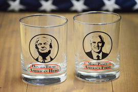 Trump & Pence Whisky Glass Set