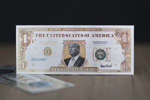 Donald Trump $1 Keep America Great White Gold Bank Note