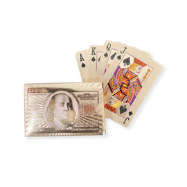 Benjamin Franklin Rose Gold $100 Bill Playing Cards