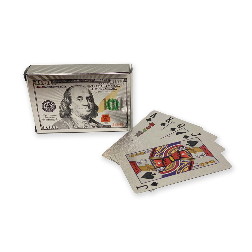 Benjamin Franklin Silver Plated Playing Cards