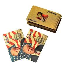 Donald Trump 24k Gold Plated Playing Cards