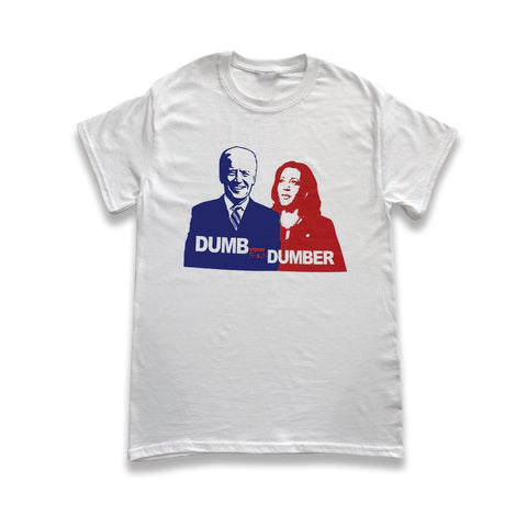 'Dumb & Dumber' Biden/Harris White T-shirt