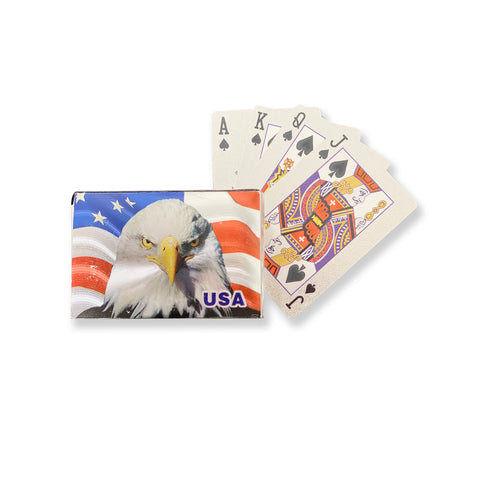 American Bald Eagle Silver Plated Playing Cards