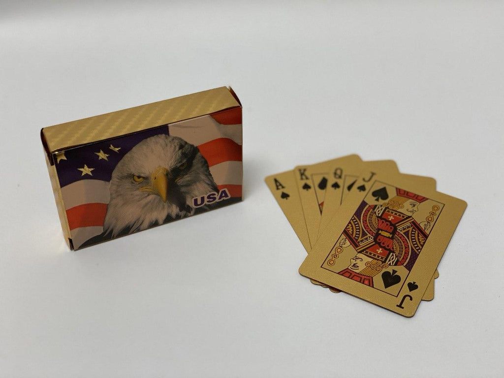 American Bald Eagle Gold Playing Cards