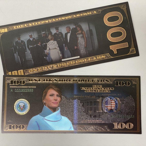 $100 Melania Black & Gold Bank Note