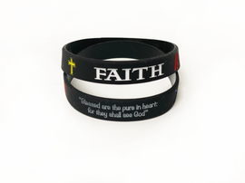 FAITH: Blessed Are The Pure In Heart For They Shall See God Bracelets